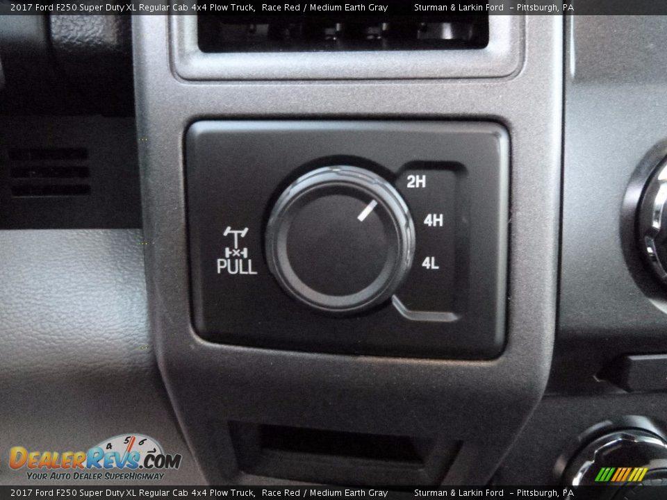 Controls of 2017 Ford F250 Super Duty XL Regular Cab 4x4 Plow Truck Photo #13