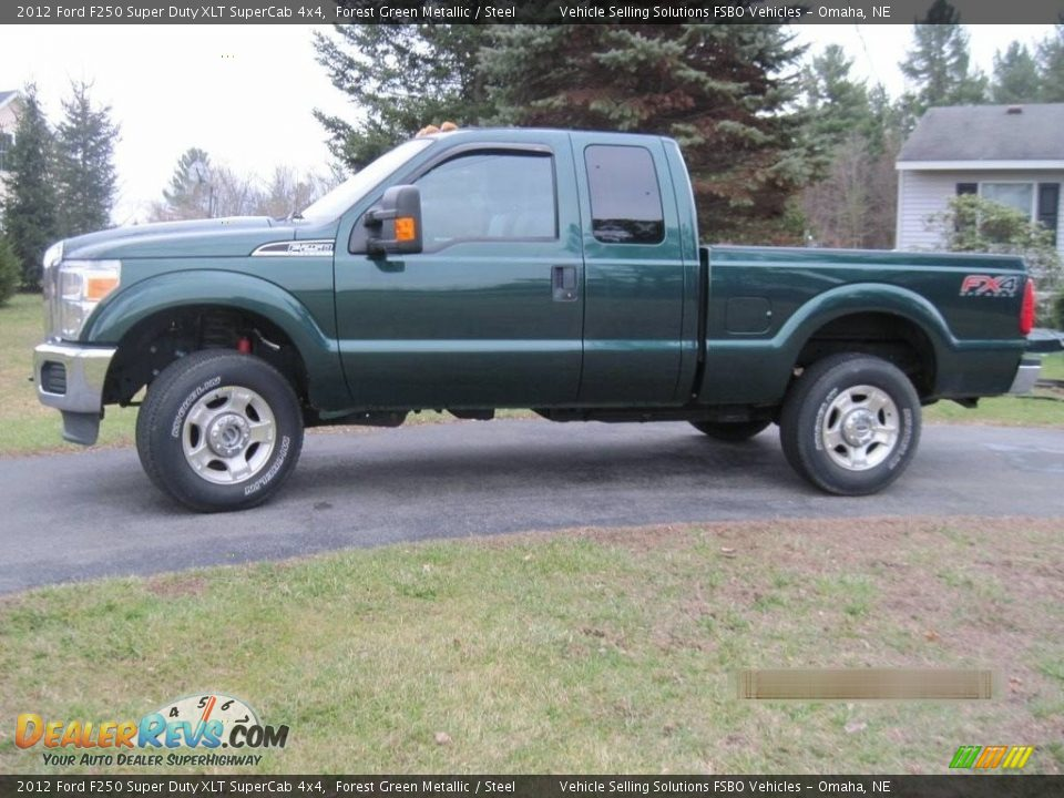 2012 Ford F250 Super Duty XLT SuperCab 4x4 Forest Green Metallic / Steel Photo #1
