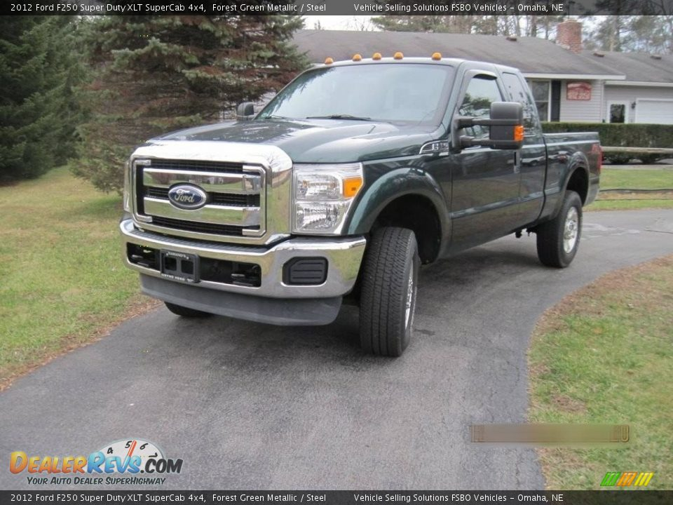 2012 Ford F250 Super Duty XLT SuperCab 4x4 Forest Green Metallic / Steel Photo #5