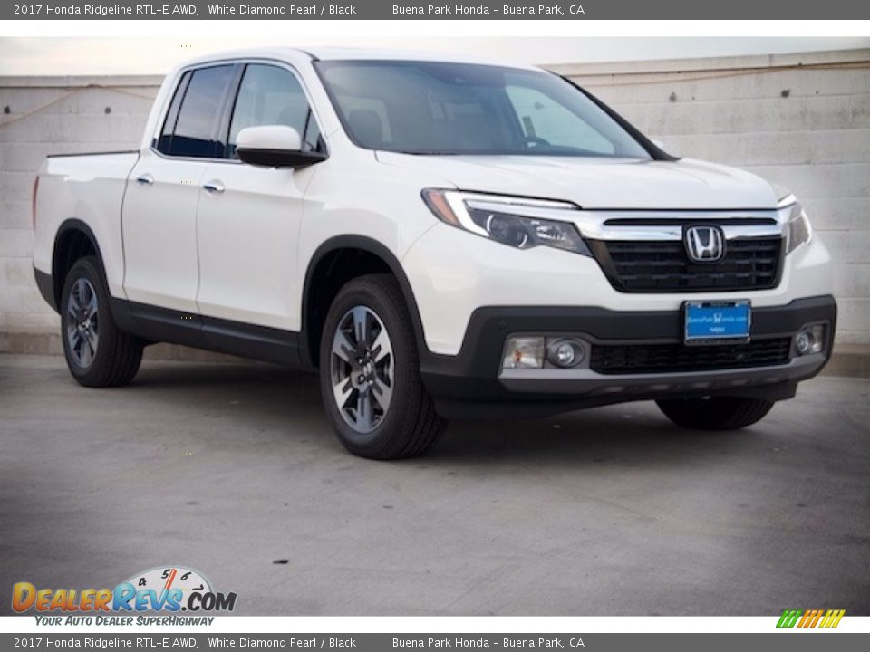 2017 honda ridgeline rtl e awd white diamond pearl black