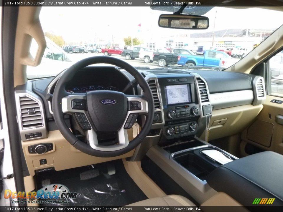 Camel Interior - 2017 Ford F350 Super Duty Lariat Crew Cab 4x4 Photo #12