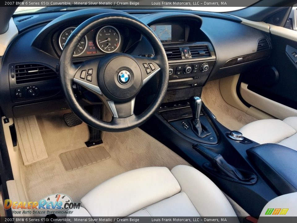 2007 BMW 6 Series 650i Convertible Mineral Silver Metallic / Cream Beige Photo #9