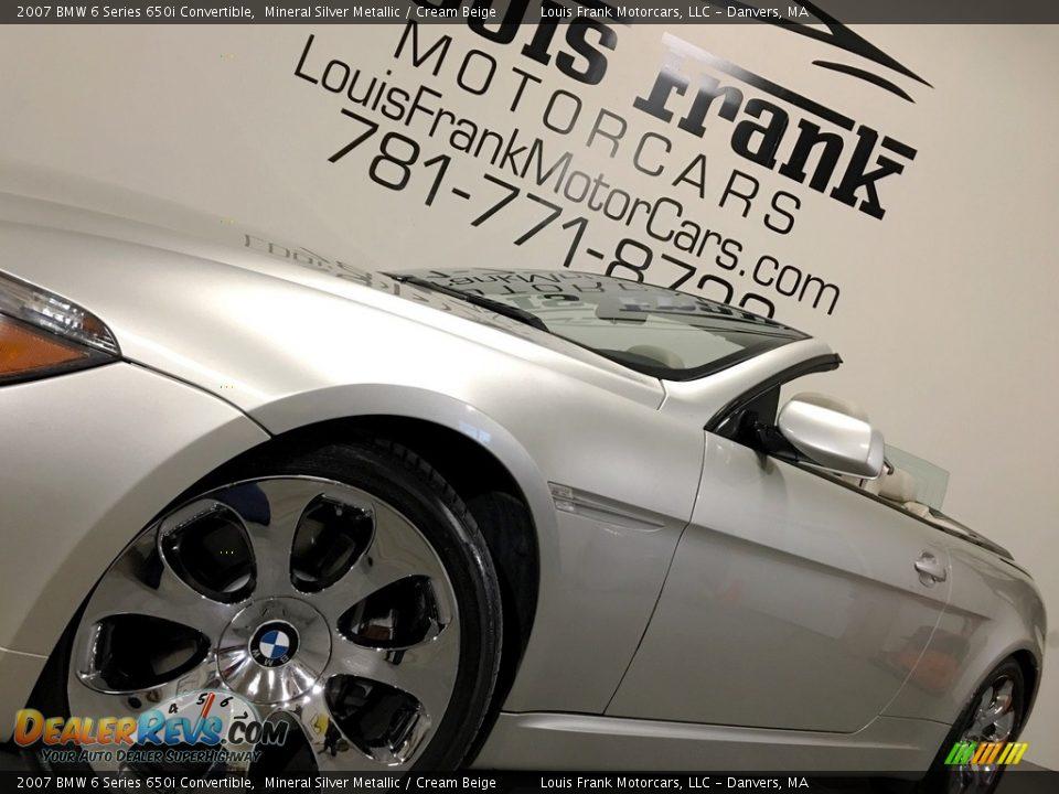 2007 BMW 6 Series 650i Convertible Mineral Silver Metallic / Cream Beige Photo #20