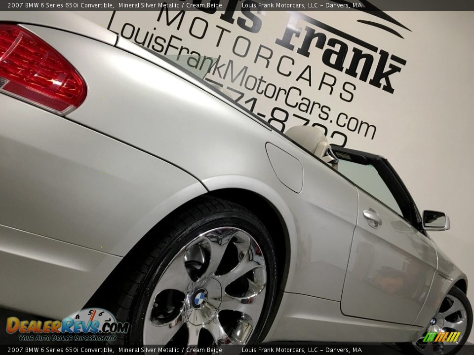 2007 BMW 6 Series 650i Convertible Mineral Silver Metallic / Cream Beige Photo #21