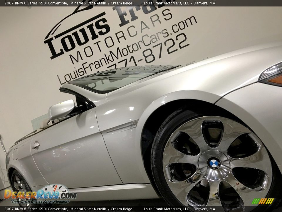 2007 BMW 6 Series 650i Convertible Mineral Silver Metallic / Cream Beige Photo #22