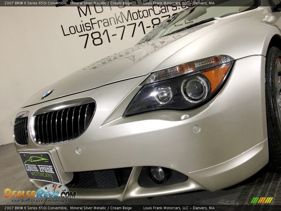 2007 BMW 6 Series 650i Convertible Mineral Silver Metallic / Cream Beige Photo #24