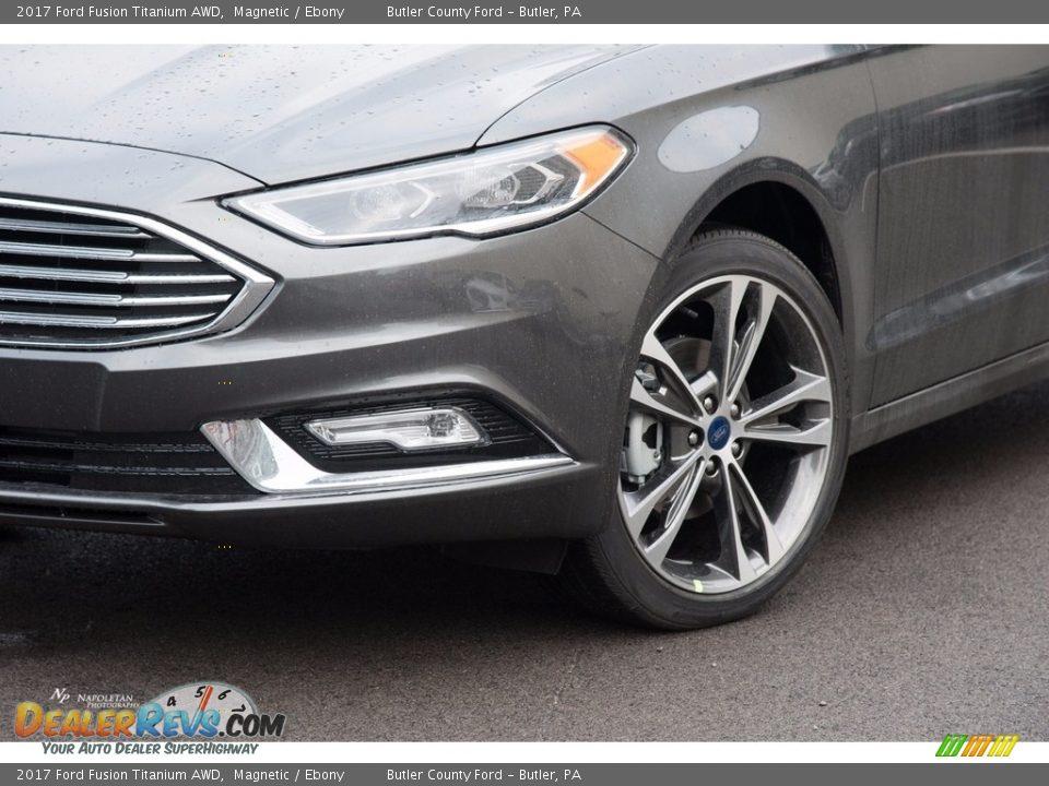 2017 Ford Fusion Titanium AWD Magnetic / Ebony Photo #2