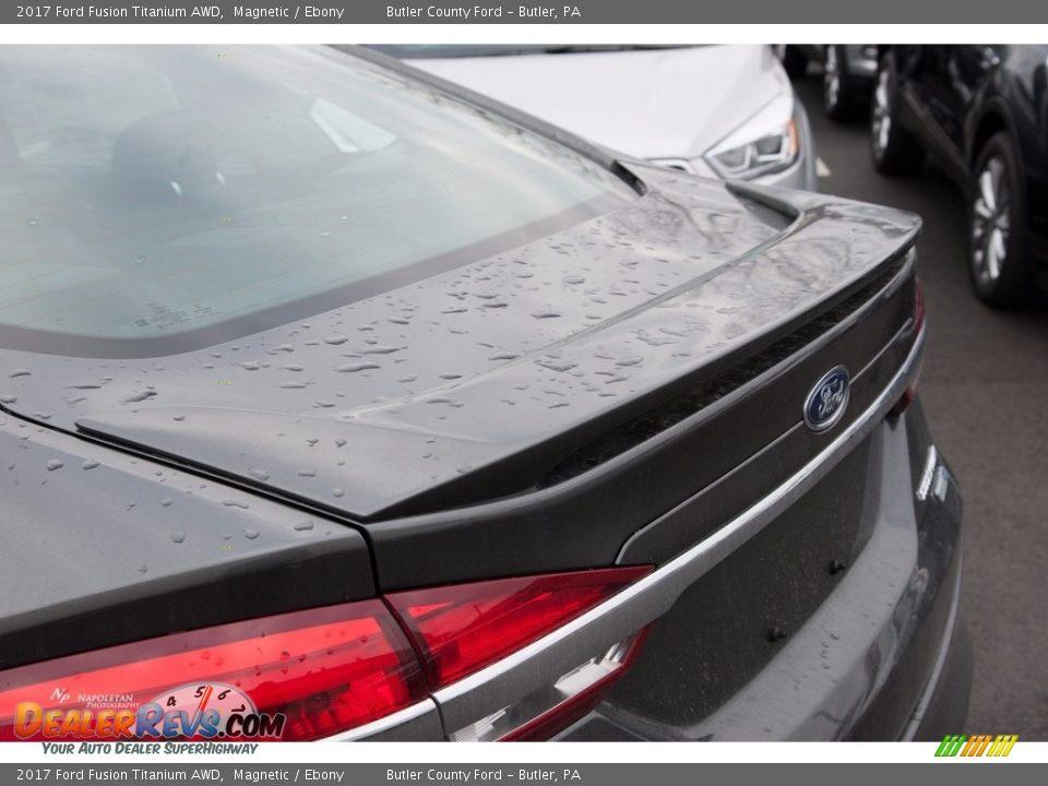 2017 Ford Fusion Titanium AWD Magnetic / Ebony Photo #7