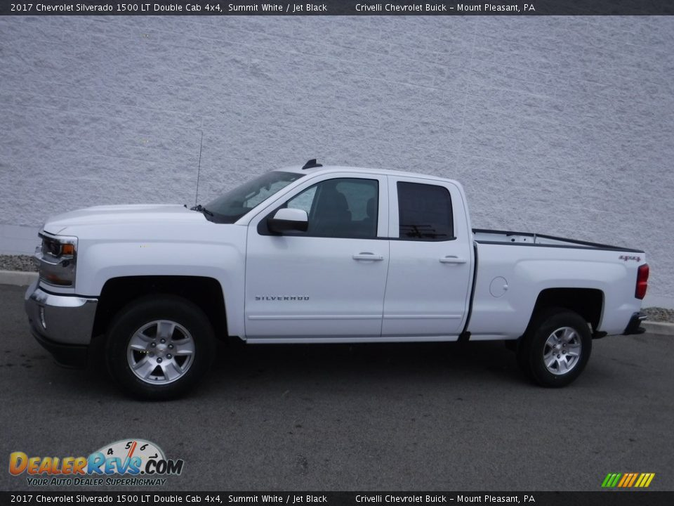 2017 Chevrolet Silverado 1500 LT Double Cab 4x4 Summit White / Jet Black Photo #2