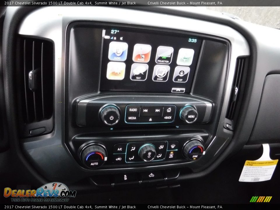 2017 Chevrolet Silverado 1500 LT Double Cab 4x4 Summit White / Jet Black Photo #14