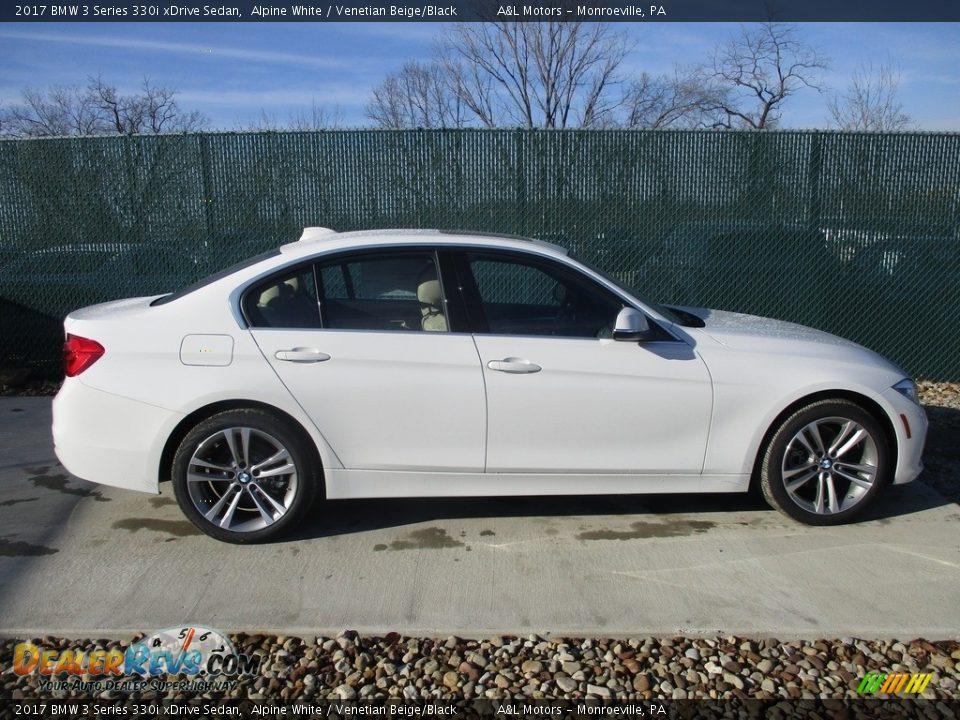 2017 BMW 3 Series 330i xDrive Sedan Alpine White / Venetian Beige/Black Photo #2