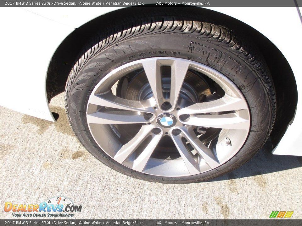 2017 BMW 3 Series 330i xDrive Sedan Alpine White / Venetian Beige/Black Photo #3