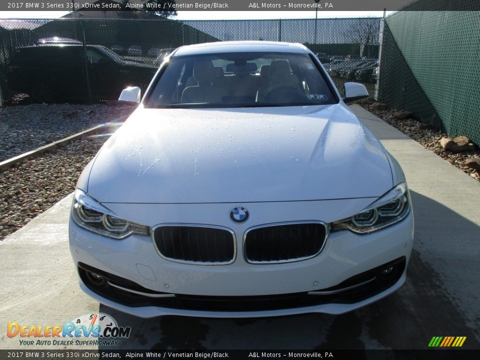 2017 BMW 3 Series 330i xDrive Sedan Alpine White / Venetian Beige/Black Photo #6