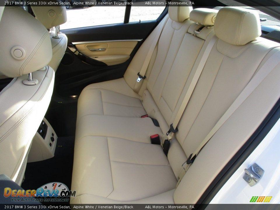 2017 BMW 3 Series 330i xDrive Sedan Alpine White / Venetian Beige/Black Photo #13