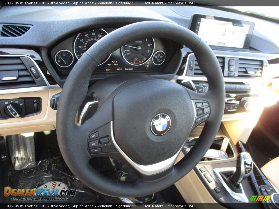 2017 BMW 3 Series 330i xDrive Sedan Alpine White / Venetian Beige/Black Photo #14