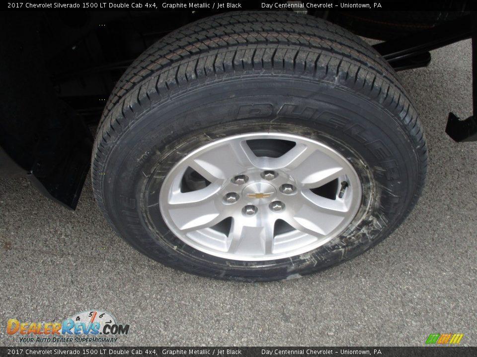 2017 Chevrolet Silverado 1500 LT Double Cab 4x4 Graphite Metallic / Jet Black Photo #3