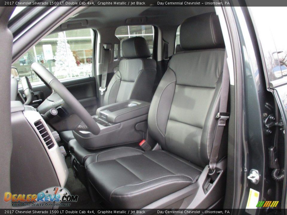 2017 Chevrolet Silverado 1500 LT Double Cab 4x4 Graphite Metallic / Jet Black Photo #12