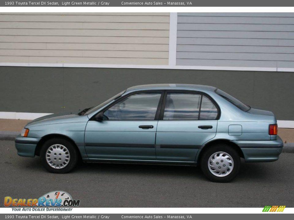 1993 toyota tercel dx sedan light green metallic gray. Black Bedroom Furniture Sets. Home Design Ideas