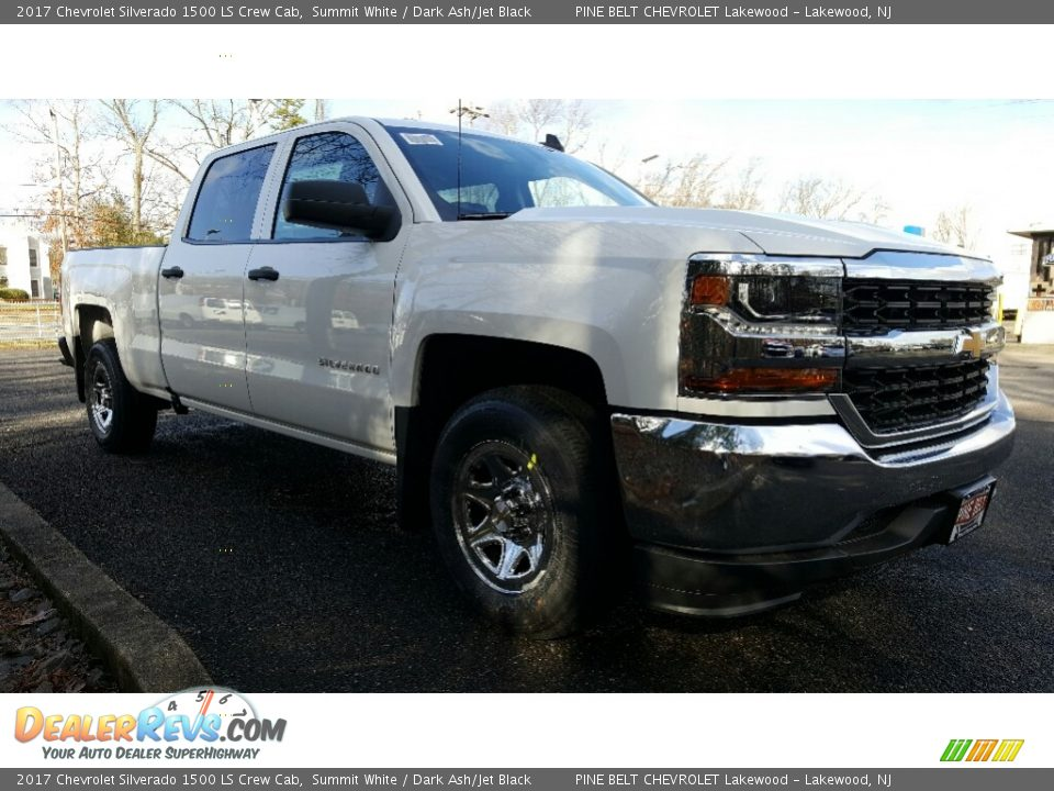 2017 Chevrolet Silverado 1500 LS Crew Cab Summit White / Dark Ash/Jet Black Photo #1