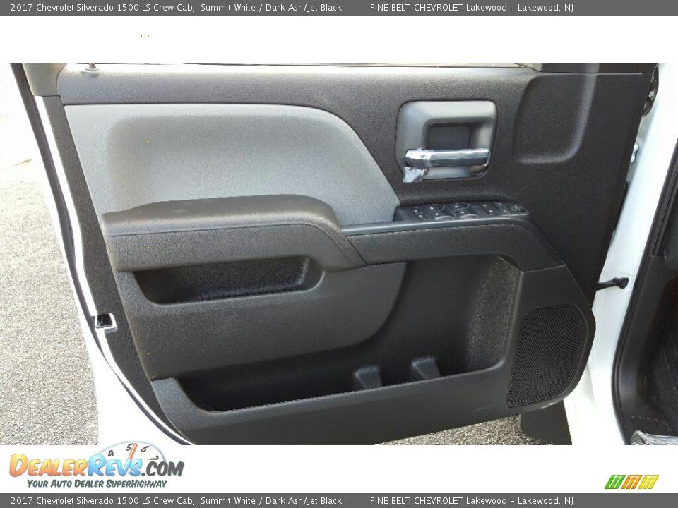 2017 Chevrolet Silverado 1500 LS Crew Cab Summit White / Dark Ash/Jet Black Photo #6