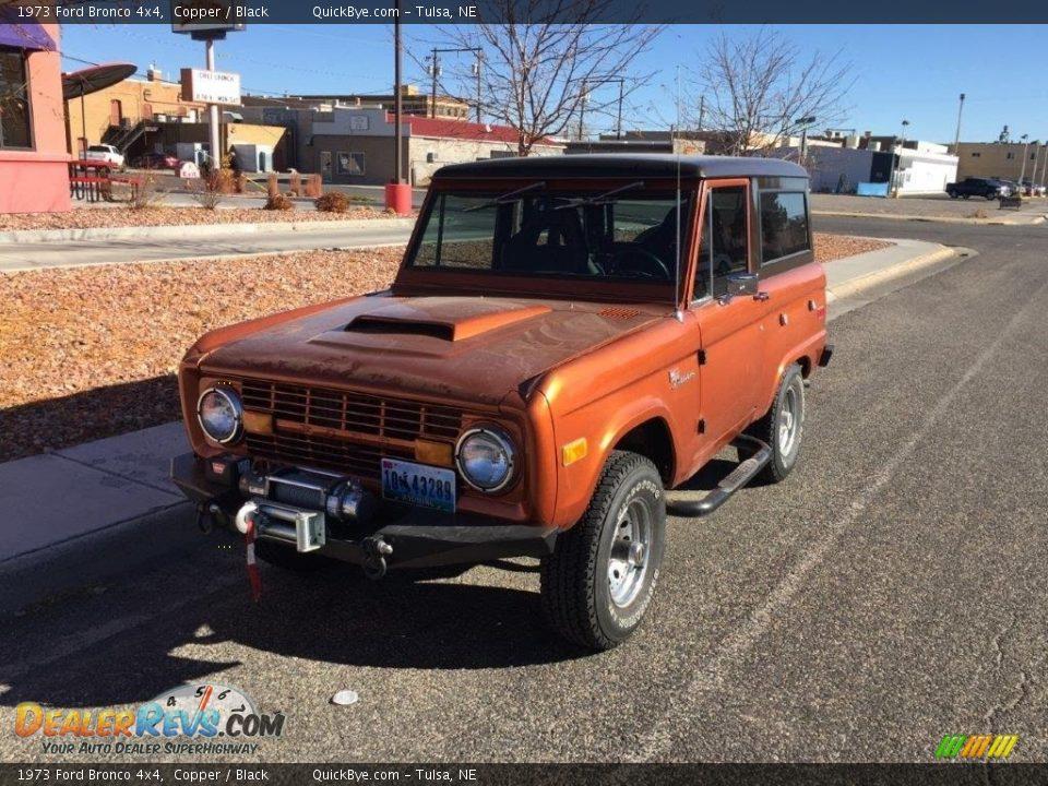 1973 Ford Bronco 4x4 Copper / Black Photo #1