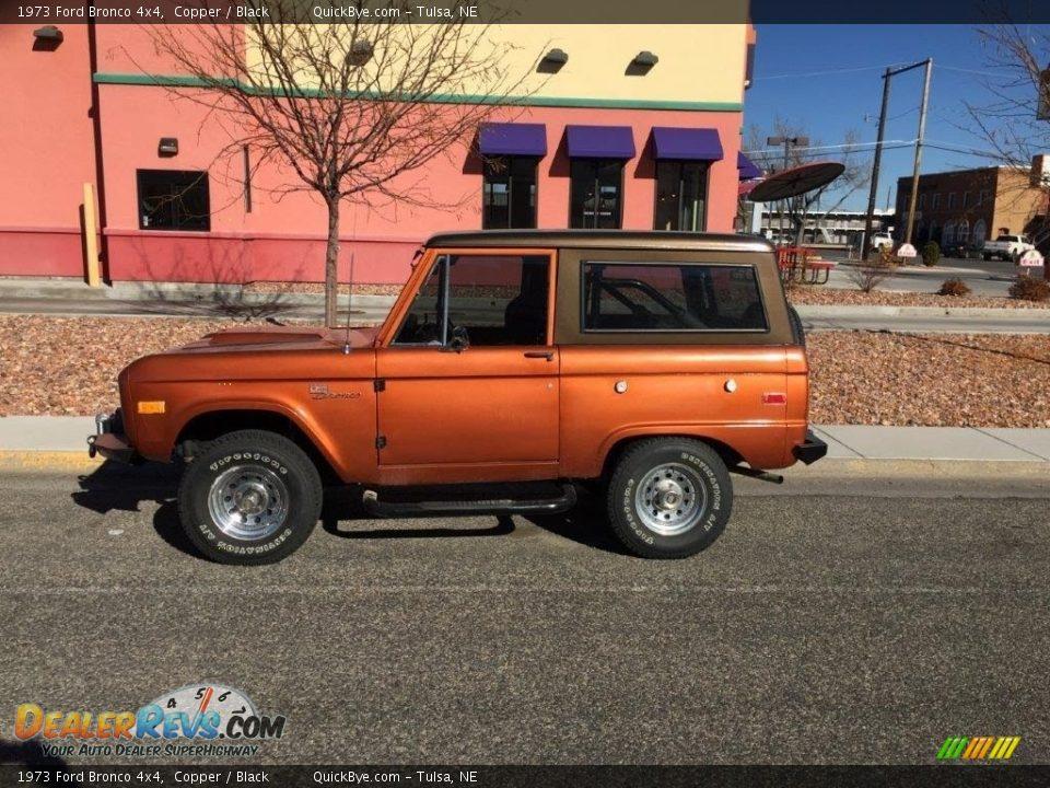 1973 Ford Bronco 4x4 Copper / Black Photo #2