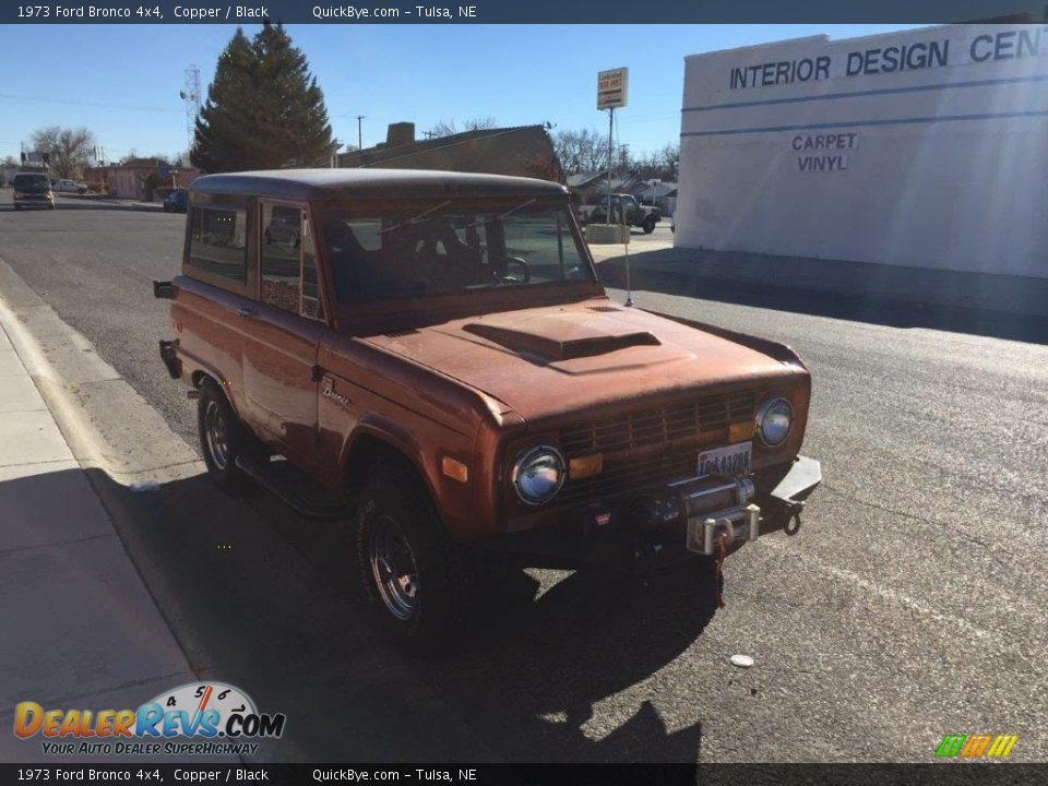 1973 Ford Bronco 4x4 Copper / Black Photo #7