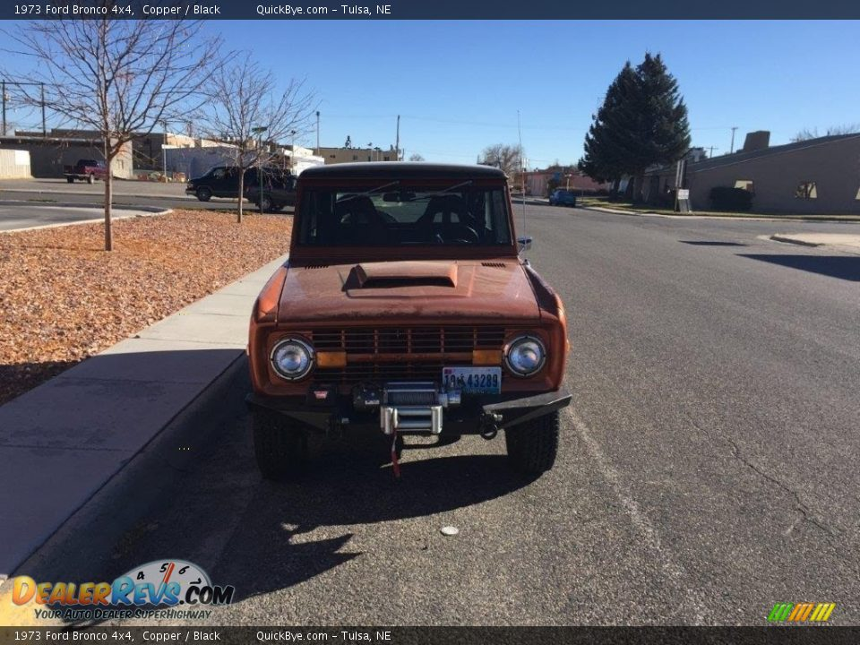 1973 Ford Bronco 4x4 Copper / Black Photo #8