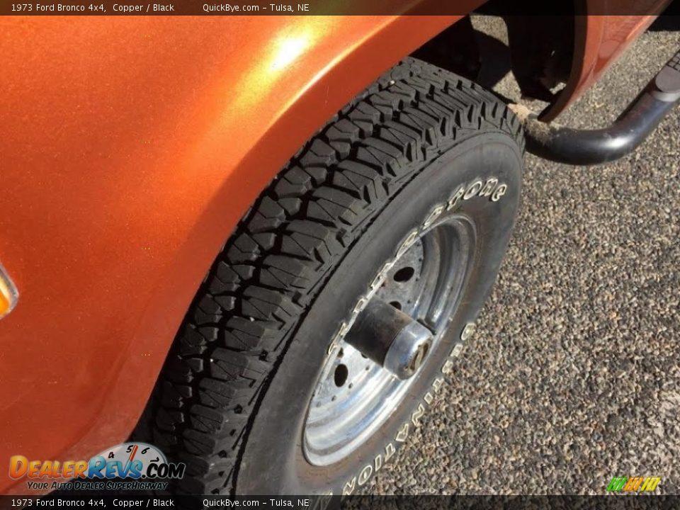 1973 Ford Bronco 4x4 Copper / Black Photo #15