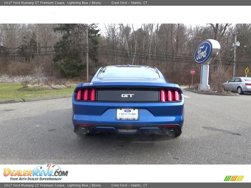 2017 Ford Mustang GT Premium Coupe Lightning Blue / Ebony Photo #6