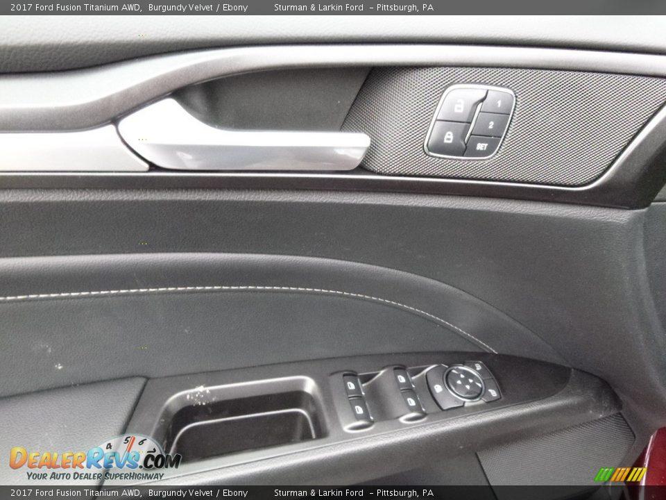 2017 Ford Fusion Titanium AWD Burgundy Velvet / Ebony Photo #10