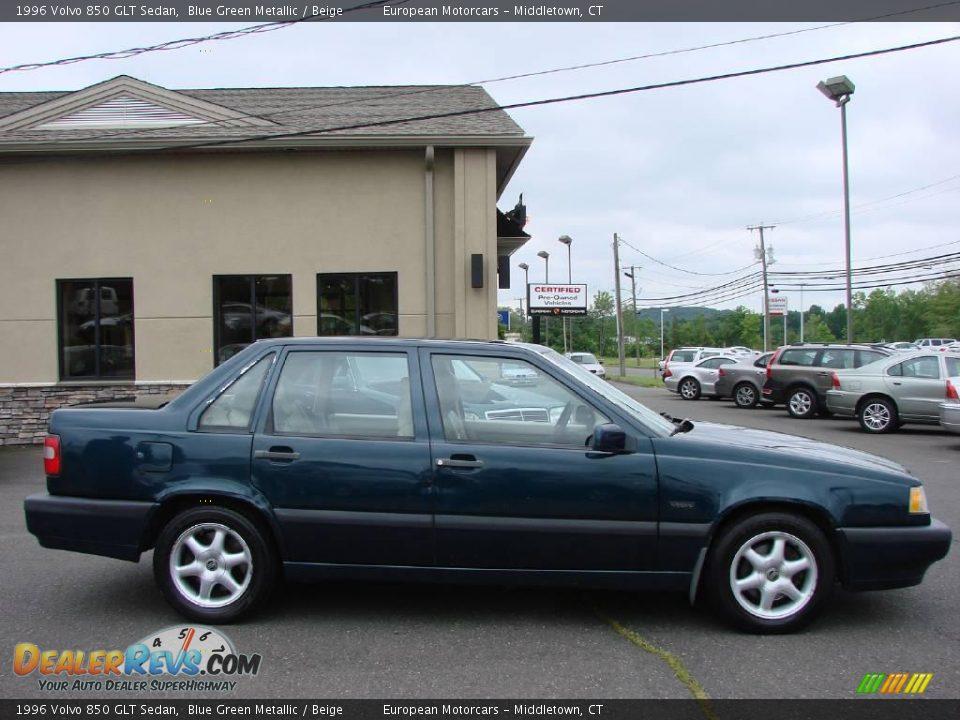 1996 Volvo 850 GLT Sedan Blue Green Metallic / Beige Photo ...