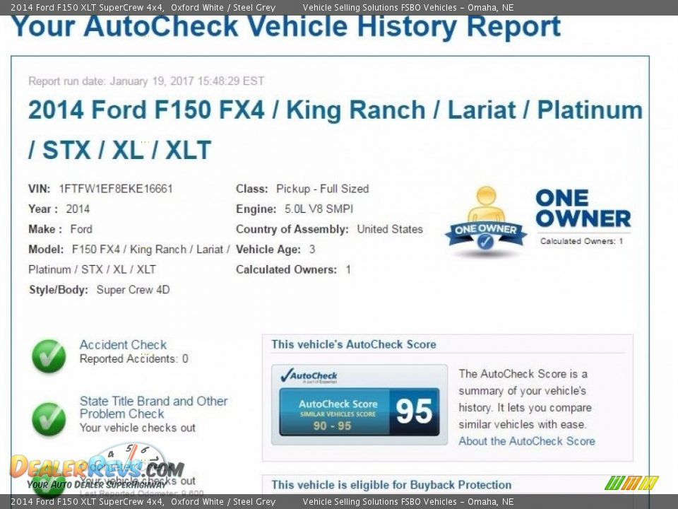 Dealer Info of 2014 Ford F150 XLT SuperCrew 4x4 Photo #2