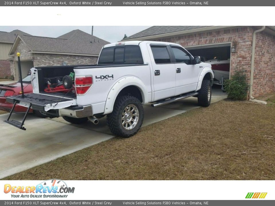 2014 Ford F150 XLT SuperCrew 4x4 Oxford White / Steel Grey Photo #3