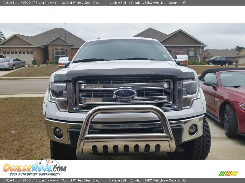 2014 Ford F150 XLT SuperCrew 4x4 Oxford White / Steel Grey Photo #6