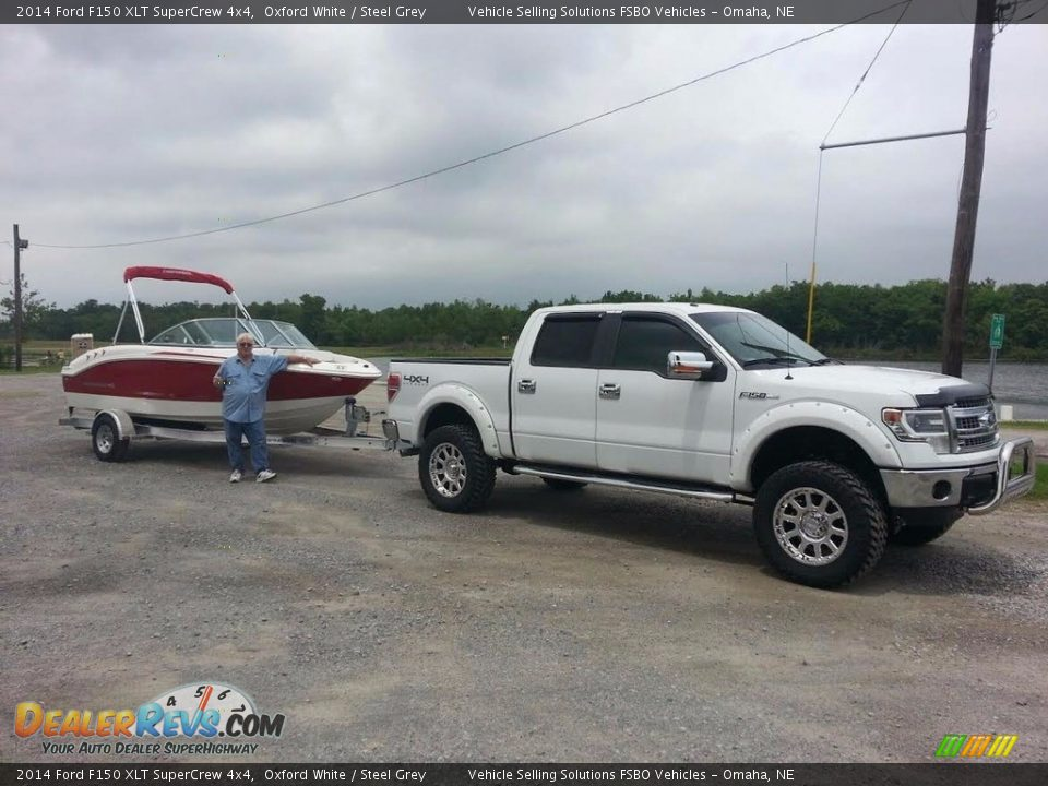 2014 Ford F150 XLT SuperCrew 4x4 Oxford White / Steel Grey Photo #8