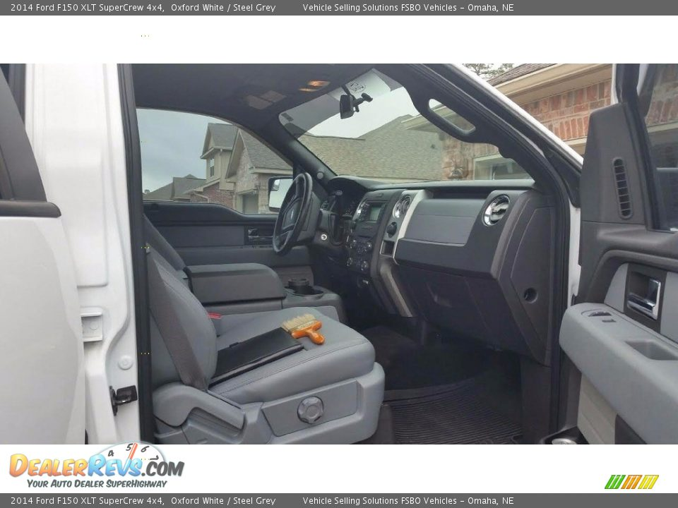 2014 Ford F150 XLT SuperCrew 4x4 Oxford White / Steel Grey Photo #9