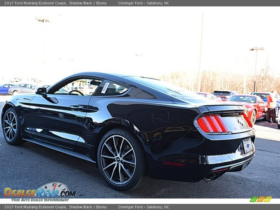 2017 Ford Mustang Ecoboost Coupe Shadow Black / Ebony Photo #17
