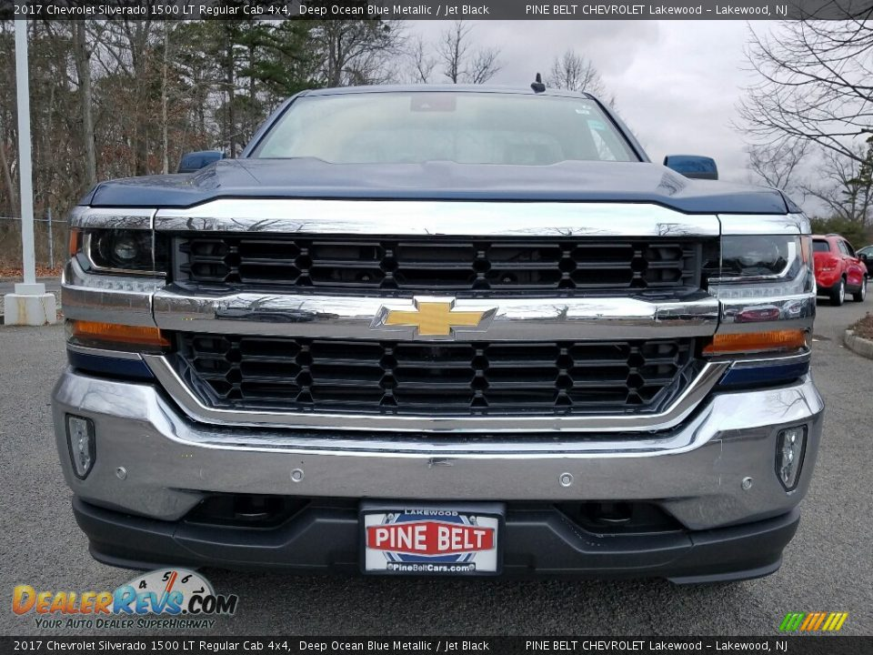 2017 Chevrolet Silverado 1500 LT Regular Cab 4x4 Deep Ocean Blue Metallic / Jet Black Photo #2