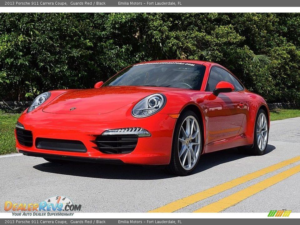 2013 Porsche 911 Carrera Coupe Guards Red / Black Photo #10