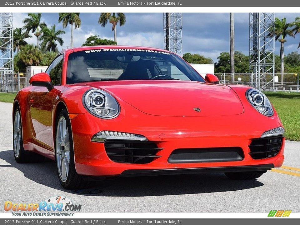 2013 Porsche 911 Carrera Coupe Guards Red / Black Photo #12