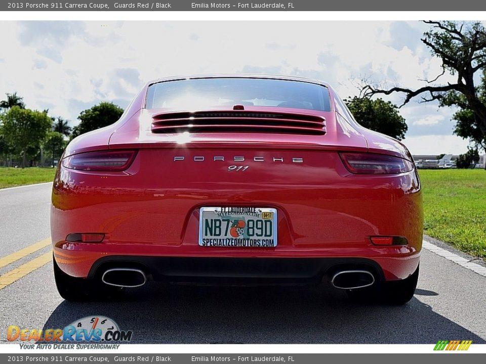 2013 Porsche 911 Carrera Coupe Guards Red / Black Photo #22