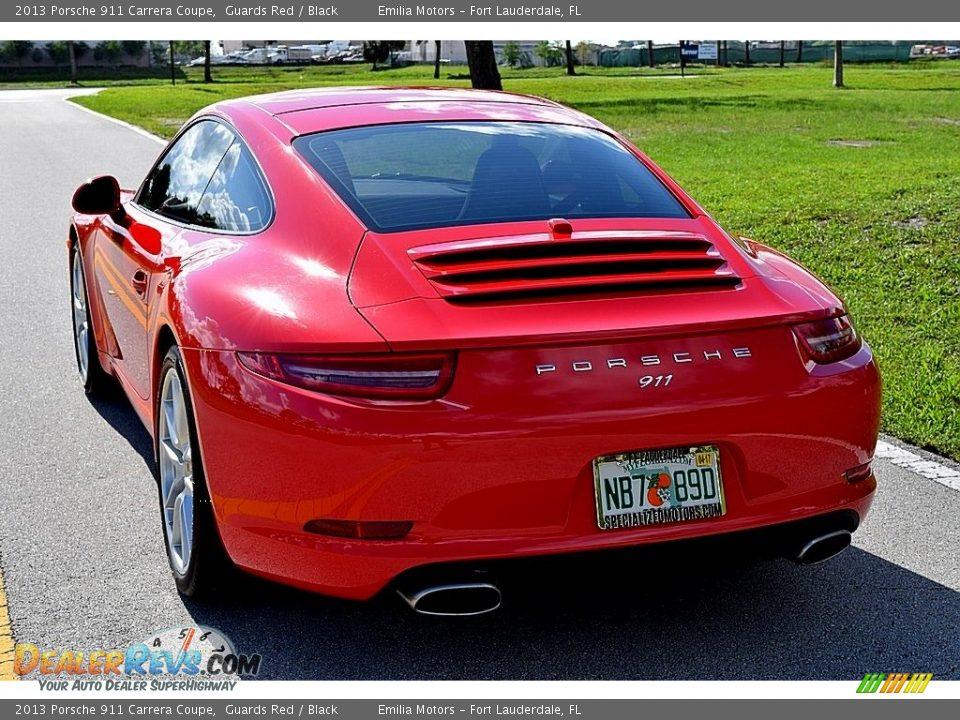 2013 Porsche 911 Carrera Coupe Guards Red / Black Photo #25