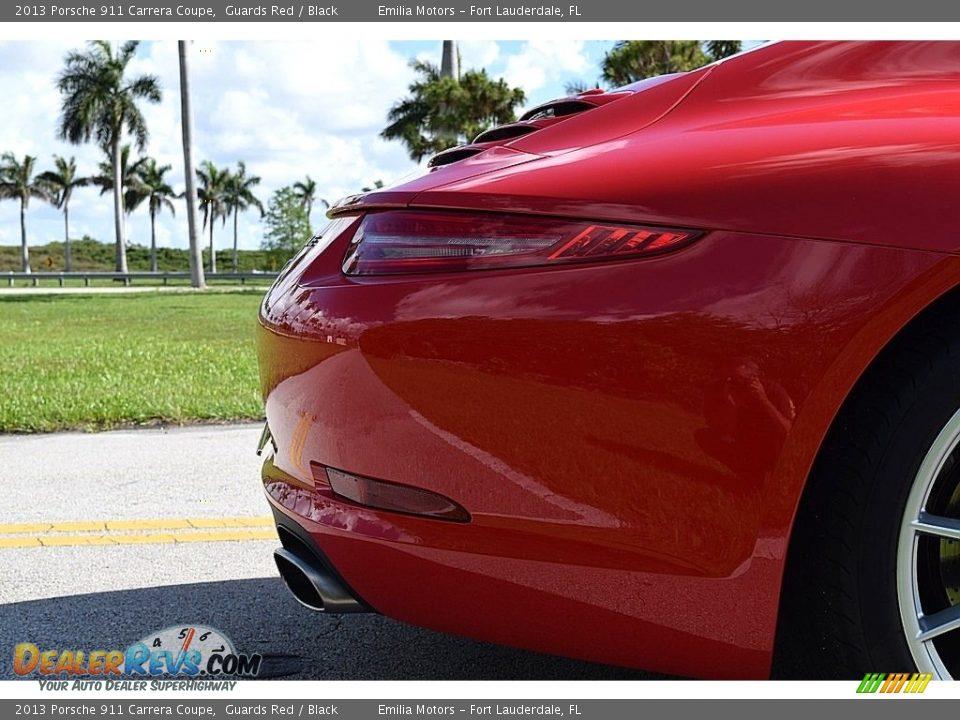 2013 Porsche 911 Carrera Coupe Guards Red / Black Photo #34