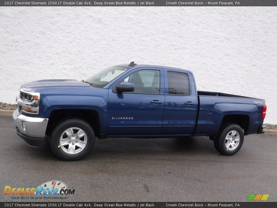 2017 Chevrolet Silverado 1500 LT Double Cab 4x4 Deep Ocean Blue Metallic / Jet Black Photo #2