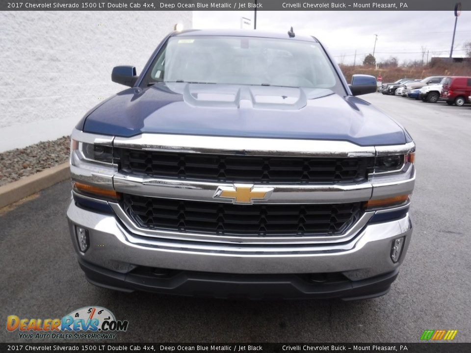 2017 Chevrolet Silverado 1500 LT Double Cab 4x4 Deep Ocean Blue Metallic / Jet Black Photo #5