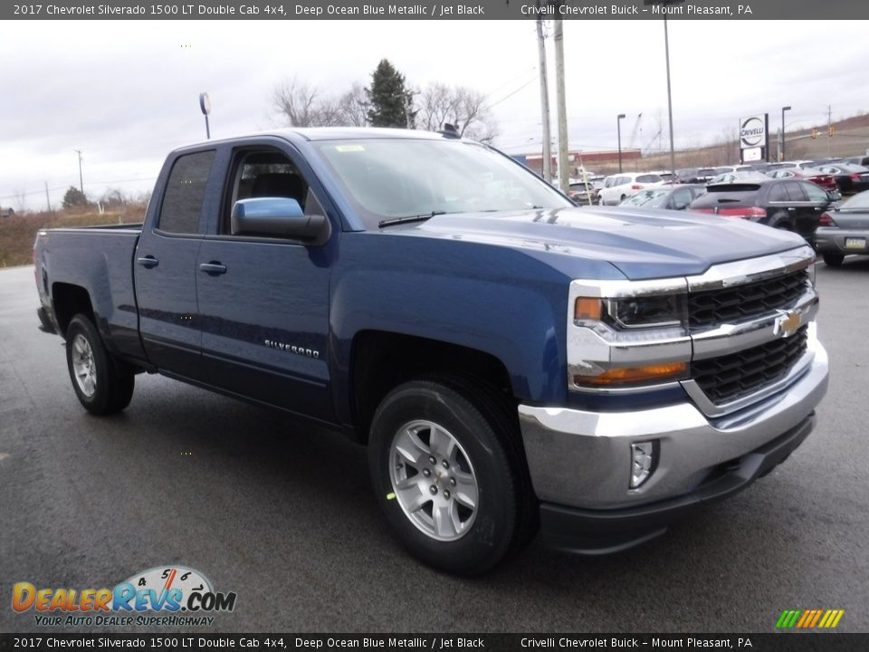 2017 Chevrolet Silverado 1500 LT Double Cab 4x4 Deep Ocean Blue Metallic / Jet Black Photo #6