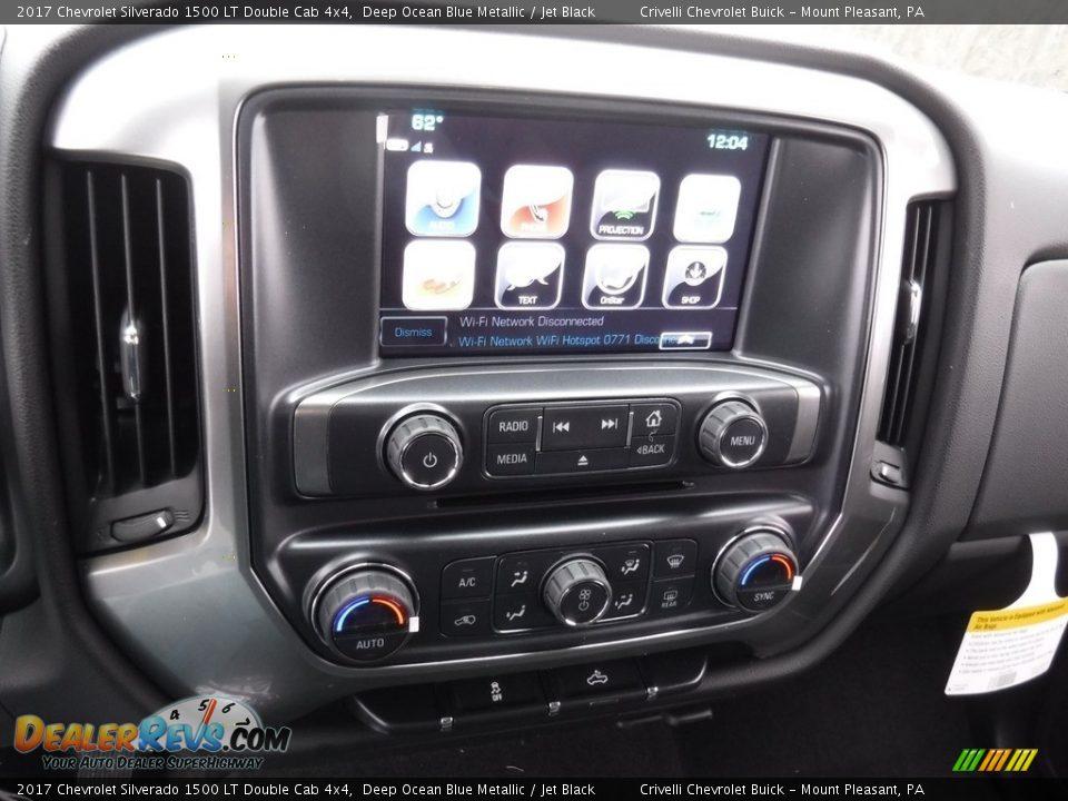 2017 Chevrolet Silverado 1500 LT Double Cab 4x4 Deep Ocean Blue Metallic / Jet Black Photo #15