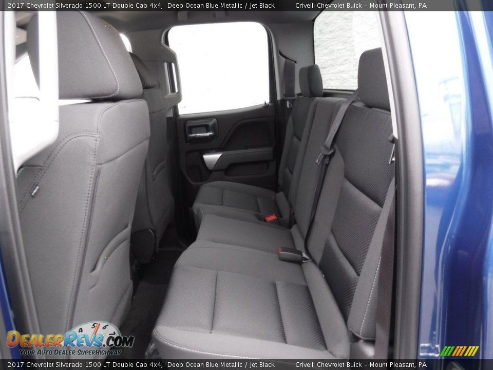 2017 Chevrolet Silverado 1500 LT Double Cab 4x4 Deep Ocean Blue Metallic / Jet Black Photo #17