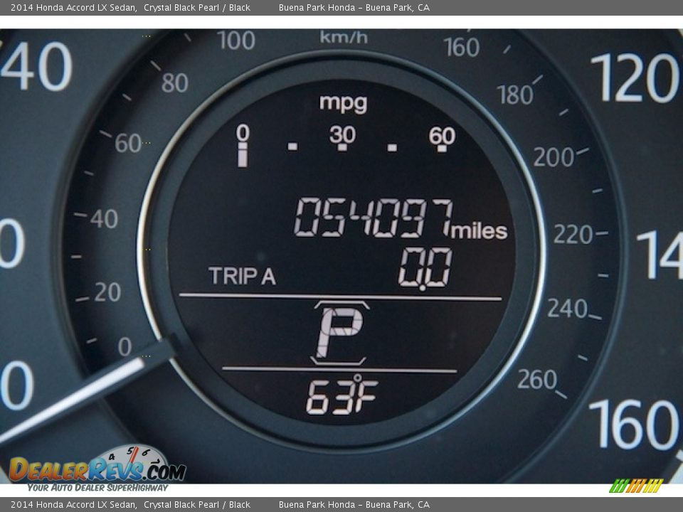 2014 Honda Accord LX Sedan Crystal Black Pearl / Black Photo #6